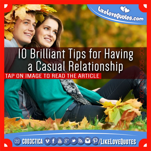 Guide to casual dating