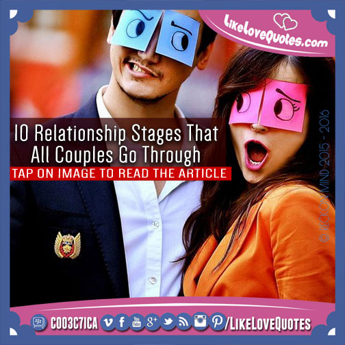 relationship stages for couples