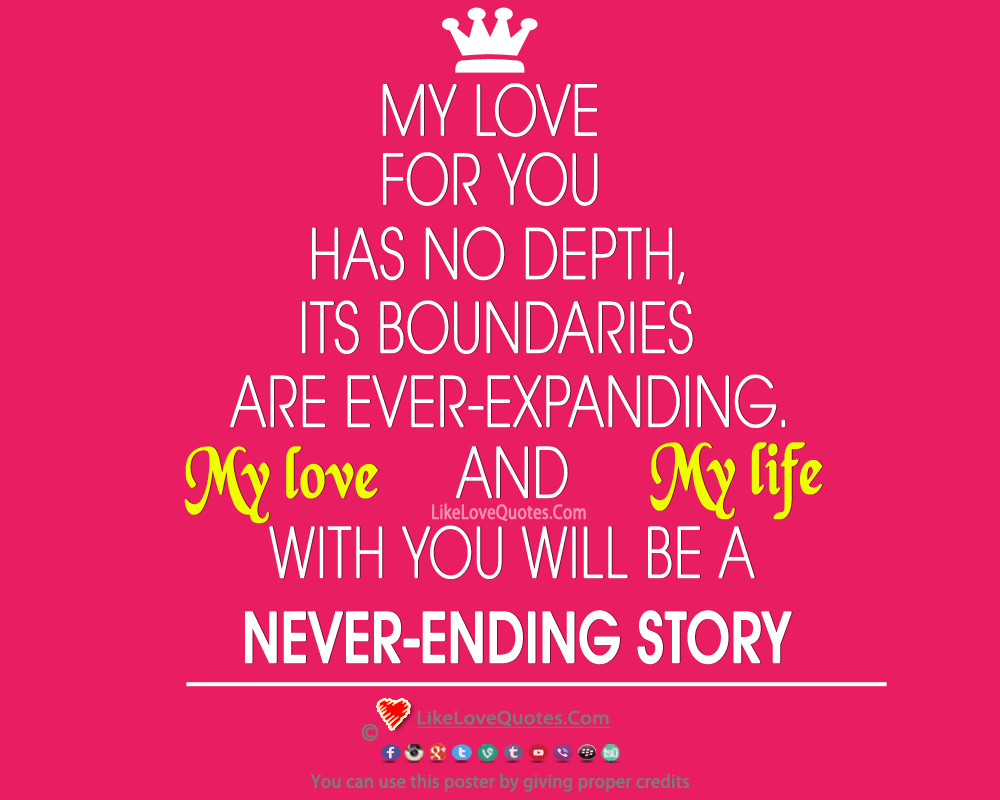 My Love For You Has No Depths-likelovequotes, likelovequotes.com ,Like Love Quotes