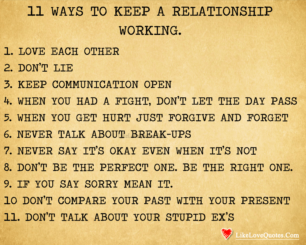 Ways To Keep A Relationship Working-likelovequotes, likelovequotes.com ,Like Love Quotes