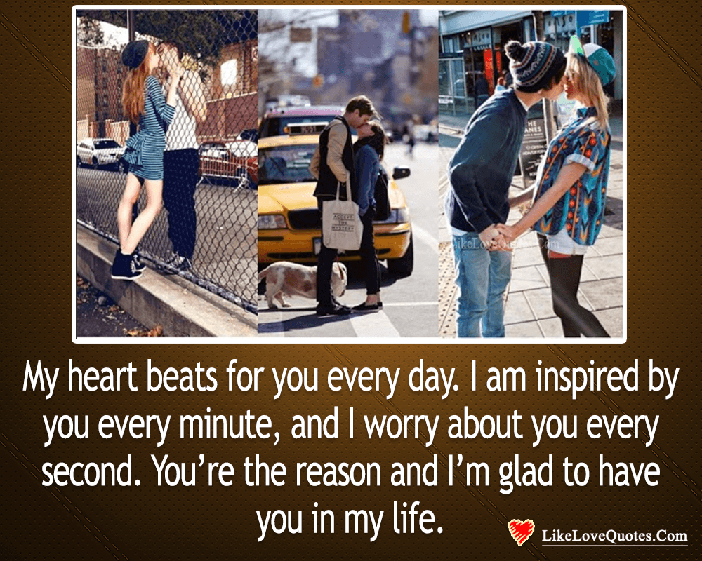 My Heart Beats For You Everyday-likelovequotes, likelovequotes.com ,Like Love Quotes