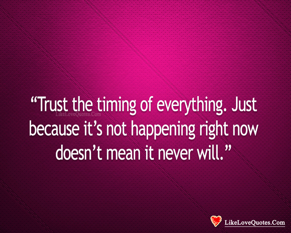 Trust The Timing Of Everything-likelovequotes, likelovequotes.com ,Like Love Quotes
