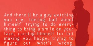And There will be a Guy Watching You Cry