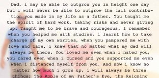 Dad, I May be able to Outgrow you in Height One Day, likelovequotes.com ,Like Love Quotes