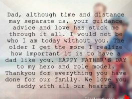 Dad, although Time and Distance may Separate us, likelovequotes.com ,Like Love Quotes