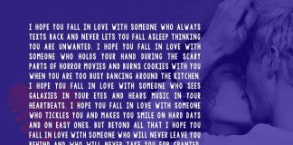 I Hope You Fall in Love with Someone Who