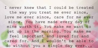 I Never Knew that I could be Treated the way You Treat Me, likelovequotes.com ,Like Love Quotes