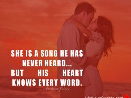 She is a song he has never heard... but his heart knows every word.