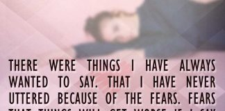 There were things I have always wanted to say. That I have never uttered because of the fears. Fears that things will get worse if I say these words. Words that maybe made me the person who I am now., likelovequotes.com ,Like Love Quotes