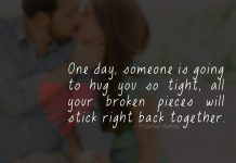 One day, someone is going to Hug You