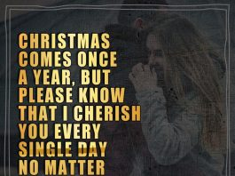 Christmas comes once a year, but please know that I cherish you every single day no matter the distance between us.