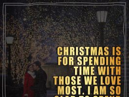 Christmas is for spending time with those we love most