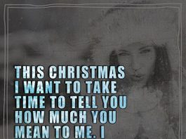 This Christmas I want to take time to tell you how much you mean to me. I feel so blessed with you.