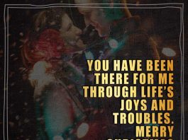 You have been there for me through life's joys and troubles. Merry Christmas to You.