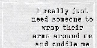 I really just need someone to wrap their arms around me and cuddle me until I fall asleep...