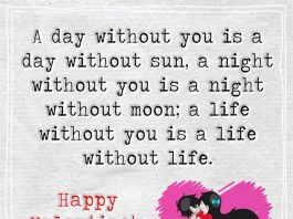 A Day Without You Is A Day Without Sun -likelovequotes
