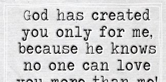 God Created You Only For Me Because-likelovequotes
