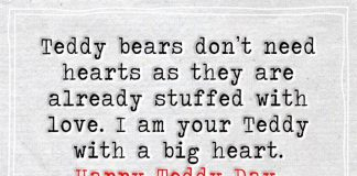I Am Your Teddy With A Big Heart -likelovequotes