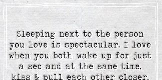 Sleeping Next To The Person You Love-likelovequotes