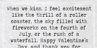 When We Kiss, I Feel Excitement -likelovequotes