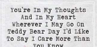 Wherever I May Go On Teddy Bear Day-likelovequotes