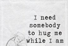I need somebody to hug me while I am crying -likelovequotes