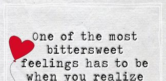 One of the most bitter sweet feelings has to be when you realize how much you are going to miss a moment while you are still living it -likelovequotes