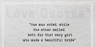One man cried, while the other smiled -likelovequotes