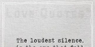 The loudest silence, is the one that fell from your lips -likelovequotes
