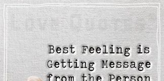 Best Feeling is Getting Message from the Person You Miss-likelovequotes.com