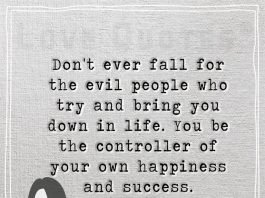 Control your own happiness and success -likelovequotes.com