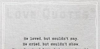 He loved but couldn't say-likelovequotes.com