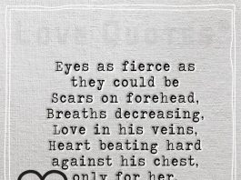 Heart beating hard against his chest -likelovequotes.com