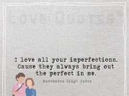 I love all your imperfections -likelovequotes.com