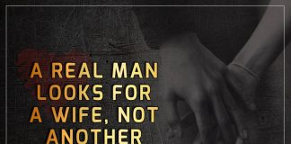 A Real Man Looks For A Wife -likelovequotes