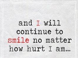 And I Will Continue To Smile -likelovequotes