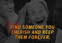 Find someone you cherish and keep them forever-likelovequotes