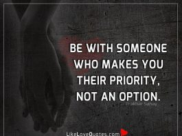 Someone Who Makes You Their Priority -likelovequotes