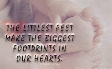 The Biggest Footprints In Our Hearts -likelovequotes