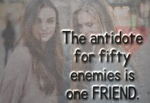 The antidote for fifty enemies is one friend-likelovequotes