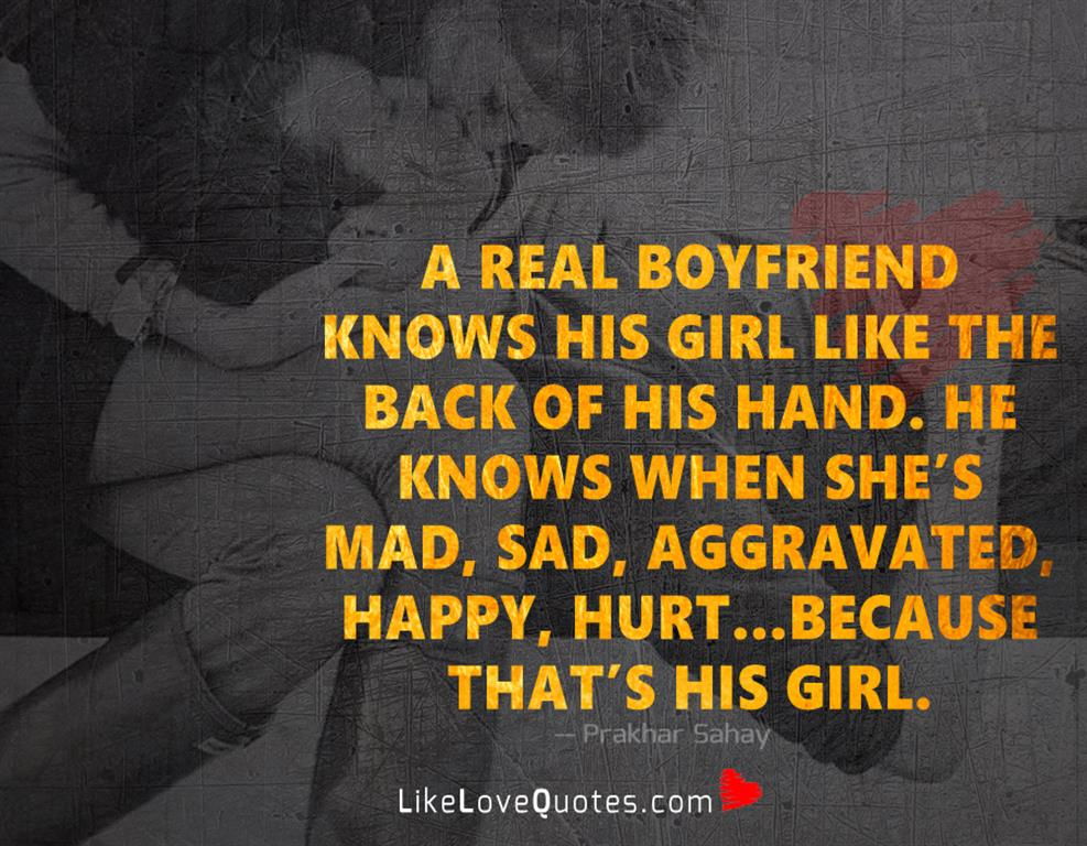A Real Boyfriend Knows His Girl Like -likelovequotes