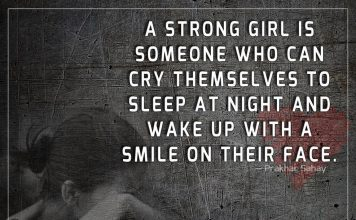 A Strong Girl Is Someone Who Can Cry -likelovequotes