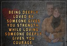 Being Deeply Loved By Someone Gives You Strength -likelovequotes