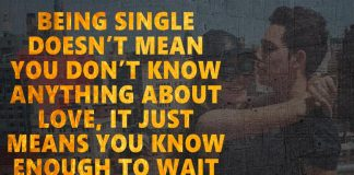 Being Single Doesn't Mean You Don't Know-likelovequotes