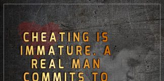 Cheating Is Immature. A Real Man Commits -likelovequotes