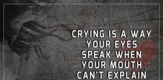 Crying Is A Way Your Eyes Speak -likelovequotes
