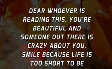 Dear Whoever Is Reading This, You're Beautiful-likelovequotes