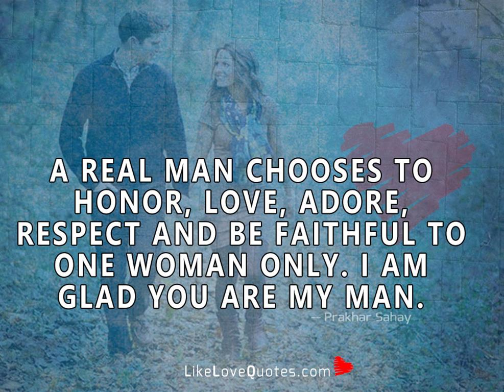 Honor, Love, Adore, Respect & Be Faithful-likelovequotes