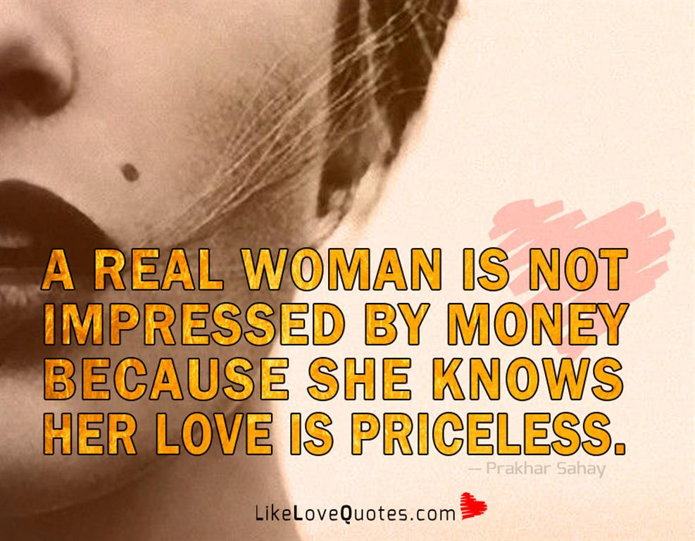 She Knows Her Love Is Priceless -likelovequotes