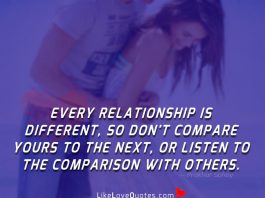 Don't Listen To The Comparison With Others-likelovequotes